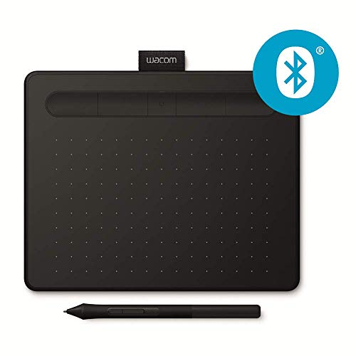 Wacom Intuos S - Tableta Gráfica Bluetooth, Tableta Gráfica Inalámbrica para pintar, dibujar y editar fotos con 2 softwares creativos incluydos para descargar, compatible con Windows & Mac, Negra