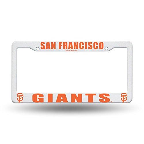 Football Fanatics MLB San Francisco Giants Plastic License Plate Frame - White