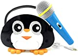Neueste Kinder Bluetooth Karaoke-Maschine mit Mikrofon Pinguin, Kinder...