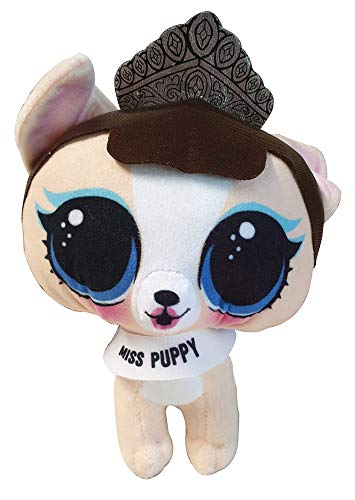 Lol Surprise Kuscheltiere für Kinder zum Spielen und Sammeln, stylische Plüschtiere 21 cm zum Knuddeln (Miss Puppy)