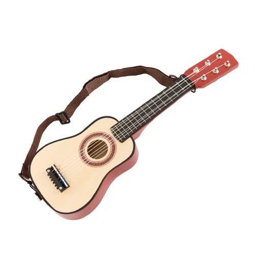 Lihgfw 3-9 Jahre alte Kinder Holz-Spielzeug-Gitarre Ukulele Kleine Musikinstrumente Baby-Mädchen-Kind-Geburtstags-Geschenk
