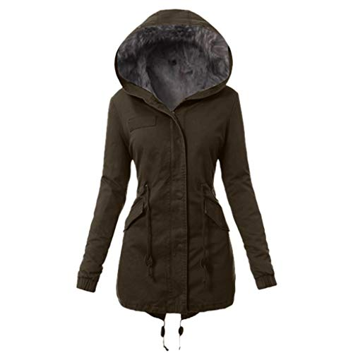 RUIVE Women's Plus Size Winter Coats Faux Fur Lined Quilted Jackets Fashion Winter Parka Green