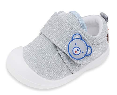 Zapatos Bebé Zapatos Primeros Pasos 6-12 Meses Zapatos de Bebé Niña Niño Suave Suela Ligero Transpirable Antideslizante Zapatillas Deportivas Outdoor Indoor Verde 15