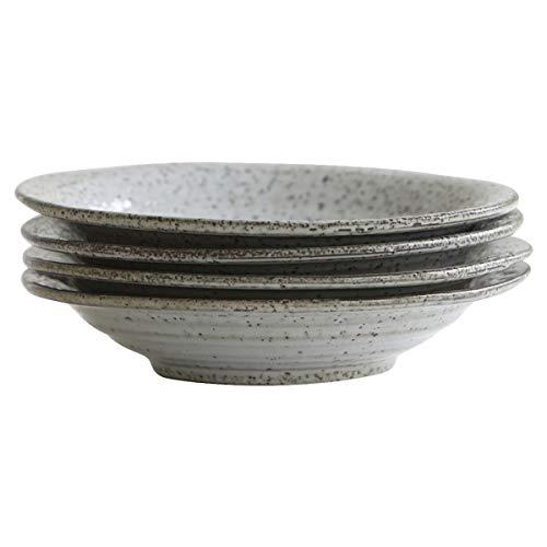House Doctor - Rustic - Suppenteller - Keramik - grau/braun Ø 25cm