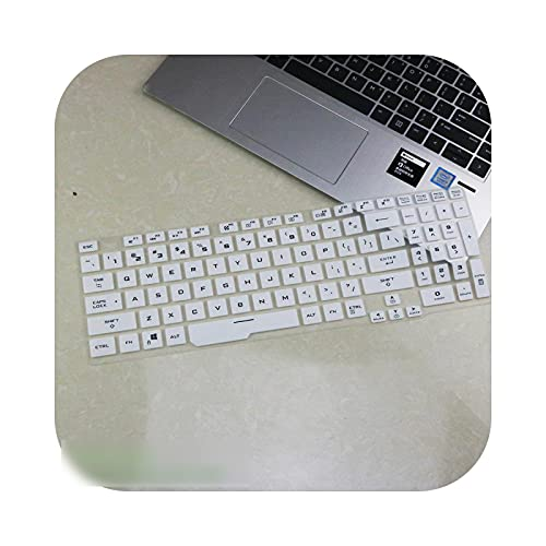 Teclado de silicona para Asus Tuf Gaming A15 Fa506 Fa506Iu Fa506Iv Fa506Ii / ASUS Tuf A17 Fa706 Fa706Ii Fa706Iu Plus-White