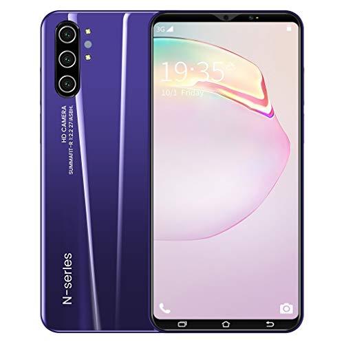 Note10 + Smartphone Pantalla de visualización Digital de 5 Pulgadas 512M + 4G Smartphone de Cuatro núcleos Morado EU