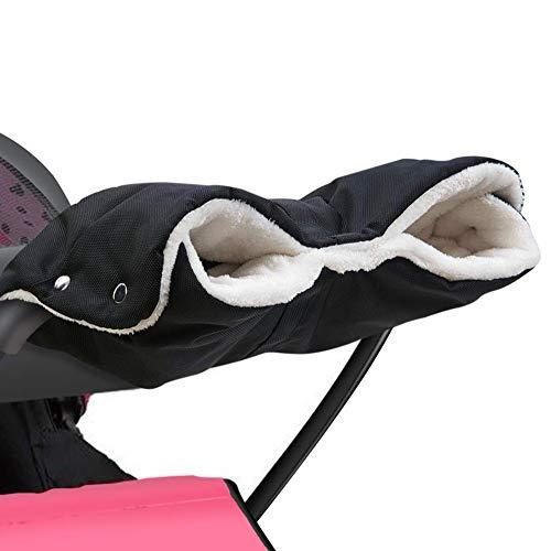 QIMMU Kinderwagen Handwärmer, Kinderwagen Handschuhe Handmuff mit Fleece Innenseite,Kinderwagen Muff Atmungsaktiv Wasserfest Winddicht, Universalgröße für Kinderwagen Buggy