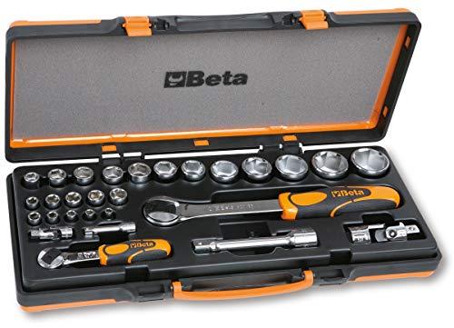 Beta 902A/C22 Set di 22 Chiavi a Bussola Esagonali e 6 Accessori in Cassetta di Lamiera