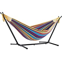Vivere Double Hammock with Stand Combo (Tropical)