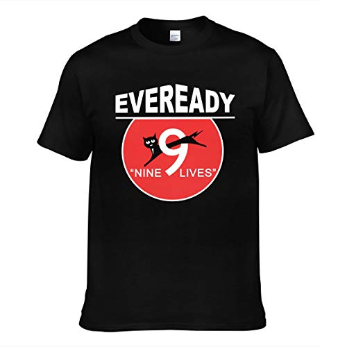 COMEUP Eveready Battery Logo Men's Short Sleeve t-Shirt Fashion Comfortable Black