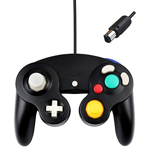 Gamecube Controller Joystick für Wii Wired Game Controller Joypad Dual Vibration NGC Gamepad Game Cube Original Controller Gamecube Spiele für GC (Schwarz)
