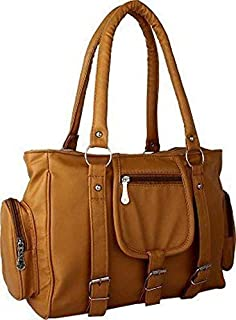 M.S ZONE Women.sPU Leather Handbag (Mustard) (Today offer Deal of the Day)
