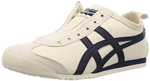 Onitsuka Tiger Mexico 66 Slip-On, Zapatillas Unisex Adulto, Beige Bleu Nuit, 37 EU