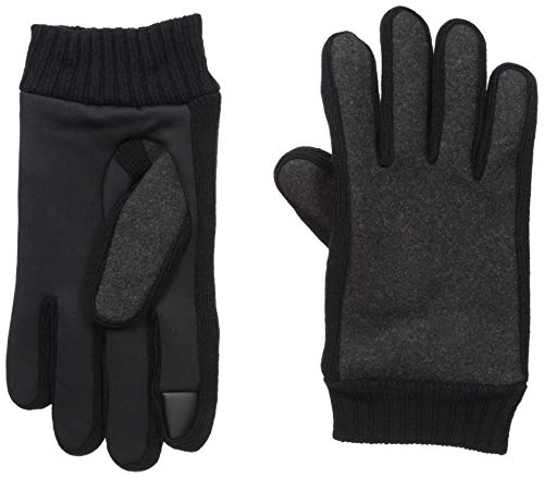 Kenneth Cole REACTION Men's Touchscreen Warm Winter Gloves, Charcoal, Extra Large