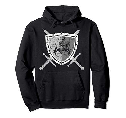 Ritterrüstung mit Löwen am Brustpanzer Mittelalter Ritter Pullover Hoodie