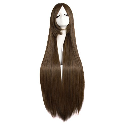 MapofBeauty 40 Inches/100cm Fashion Women Long Straight Cosplay Wig (Brown)