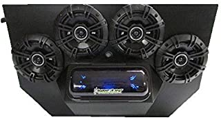 "SD 894BBT4B -Polaris RZR 800 & 900 4-Seater Stereo System BT UTV Side by Side (4-5.25"" Marine Speakers)"