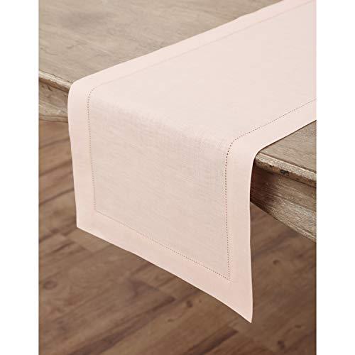 Linen Table Runner in Blush