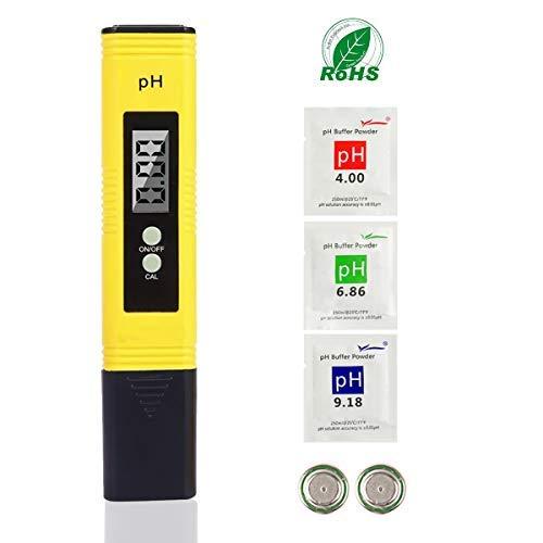 LIUMY Résolution 0,01pH, PH Mètre Numérique, ATC pH Testeur de qualité pour l'Eau Portable Aquarium Hydroponie Piscine Plage de Mesure avec 0-14 pH