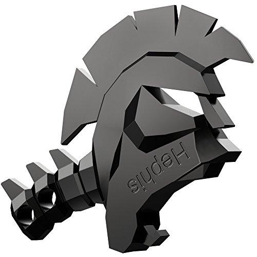 Hephis Skull Keychain Bottle Opener,Tape Cutter,Unpacker,Box Opener(Black).