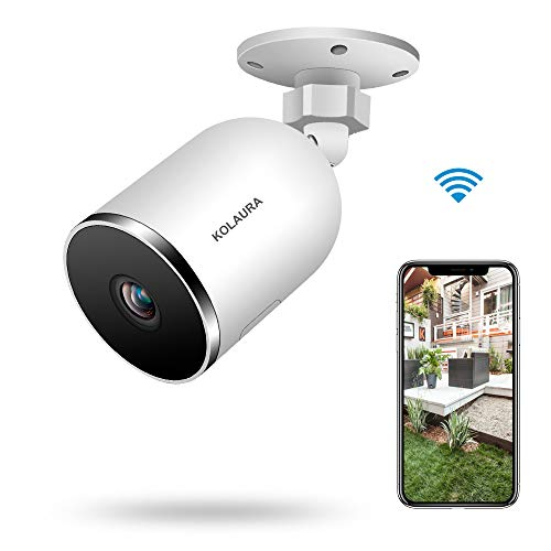Outdoor WiFi Security Camera, Kolaura Home Smart Surveillance Camera, IP66 Waterproof, Support 2 Way Audio, Night Vision, Motion Sensor, Cloud Storage Service