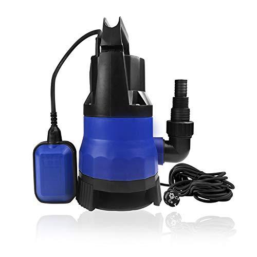 Froadp 400W Schmutzwasserpumpen Förderleistung bis 8000L/H Sanitär Tauchpumpe mit Tragegriff Universalanschlüsse und Schwimmschalter zum Ausführen von Pumpaufgaben