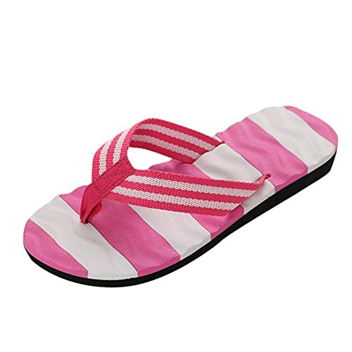 Summer Sandals,Boomboom Women Teen Girls Summer Sandals Slipper Flip-Flops Beach Shoes (US 7.5, Pink)
