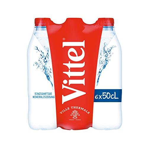Vittel stilles natürliches Mineralwasser PET Einweg Flaschen, pfandpflichtig, 24er Pack (24 x 500 ml)