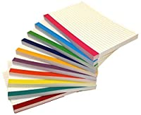 Debra Dale Designs - Color Bar Ruled Single Sided Index Cards - 5 x 8 Inches - White - 500 (50 each of 10 colors) - Wrapped in 2 packages of 250 - Standard 110# Index Card Stock - 199 GSM - .009 Thick [並行輸入品]