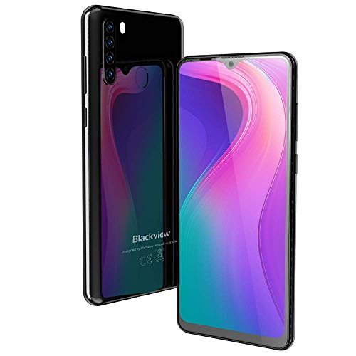 Photo of 4G Mobile Phone, Blackview A80 PRO Android Phones, 6.49 inches Waterdrop Full-Screen, 4GB + 64GB, Quad Rear Camera, 4680mAh Big Battery, Dual SIM Free Smartphone with Fingerprint, Face ID – Black