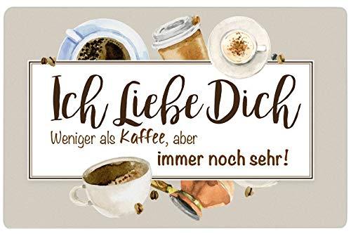 Trend Import Frühstücksbrett Ich Liebe Dich ! Weniger als Kaffee, Aber Immer noch sehr !