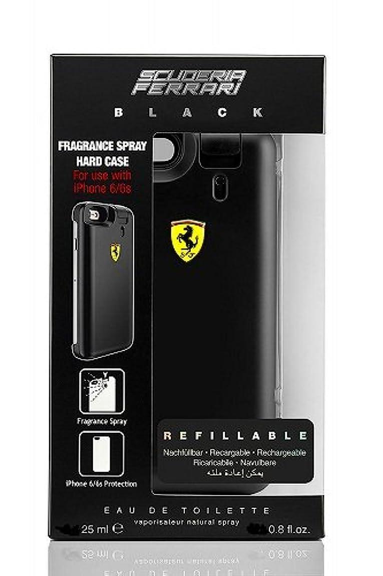 フォーマル多様体緊張◆【Ferrari】メンズ香水&iPhone6ケース◆フェラーリ ブラック オードトワレ EDT 25mlX2◆
