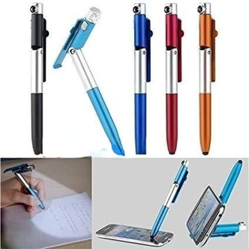 Freenfitmall Bolígrafo capacitivo 4 en 1 con soporte de bolígrafo universal para pantalla táctil con diseño de clave aguda con funda de regalo transparente (verde, 3 unidades)