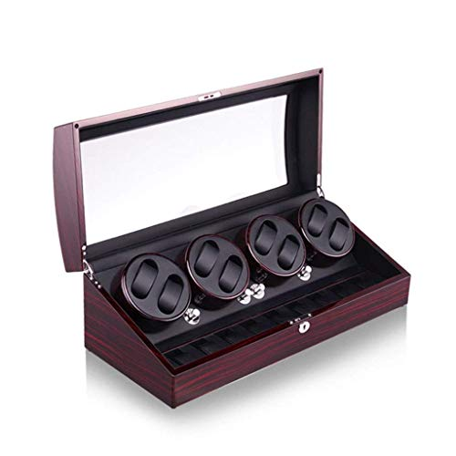 Wooden Automatic Watch Winder Storage Boxes, Battery Powered or AC Adapter 8+9...