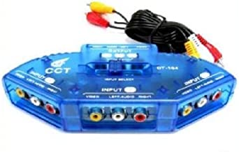 Importer520 AV Audio Video RCA 3 Way Switch Switcher Splitter+Cable