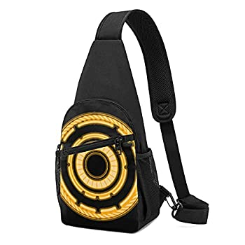 Durable Tron Legacy Grid Identification Shoulder Backpack Cross Body Bag 15.3 X 7.5 X3.3 Inch Casual Daypacks Chest Pack