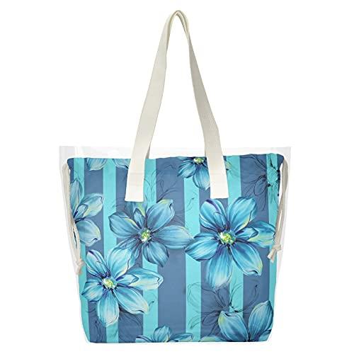 Strandtasche mit Blumenmotiv,...