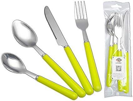 Set de cubiertos de 4 piezas Tenedores de cuchara Cuchillos ...