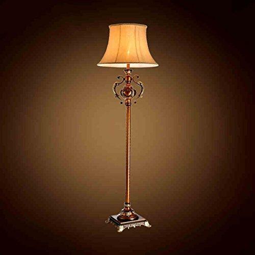XIN Home vloerlamp, staande lezen, creatieve Europese stijl vloerlamp retro klassieke landverlichting verticale landing tafel lamp woonkamer slaapkamer oogbescherming verticale tafellamp