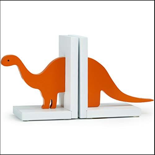 Set van 2 houten dinosaurus cartoon creativiteit anti-knuffel boeken voor kind kamer & kwekerij kamer decor, bruin boekensteunen BRON