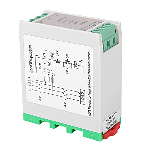 MaWeZedu 1Pcs 220VAC Circuit Protection Relay, 3-Phase Power Monitoring Relay, Overvoltage and Undervoltage Phase Sequence Protector, for Distribution Boxes