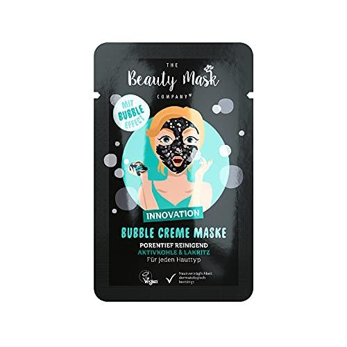 THE Beauty Mask Company Aktivkohle & Lakritz Creme Maske, 1 Sachet (10 ml), in Schwarz, tiefenpflegende Gesichtsmaske für empfindliche Haut, Wellness für zuhause, vegan