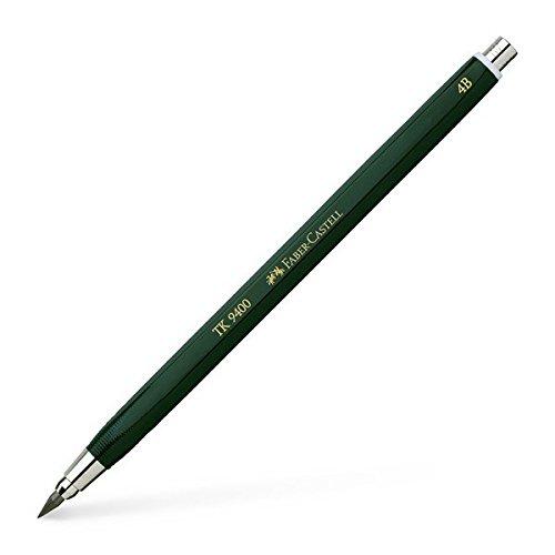 Faber-Castell 139404 - Fallminenstift TK 9400, Minenstärke: 3,15 mm, Härtegrad: 4B, Schaftfarbe: grün
