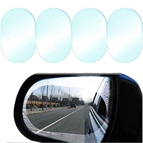 Circle Rainproof Rear View Mirror Window Clear Nano Film Hd Anti-Fog Anti-Glare Anti-Scratch Car Mirror Accessories METARSAL Car Rearview Mirror Film