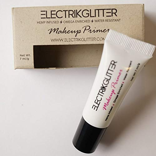 Biodegradable glitter primer cosmetic makeup adhesive for festivals. Sweat resistant vitamin enriched festival glitter glue