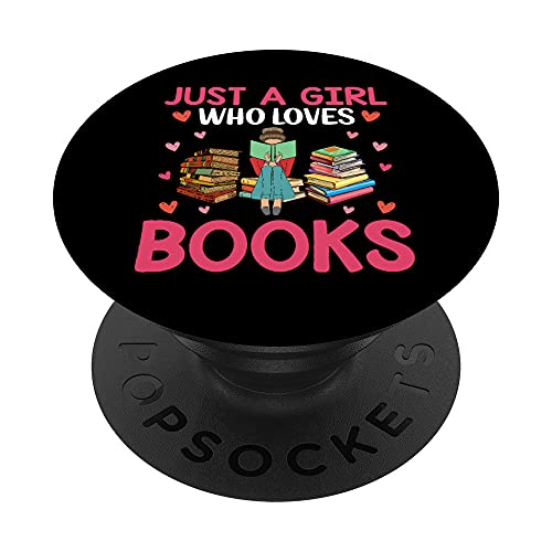 Just a Girl Who Loves Books PopSockets PopGrip Intercambiabile