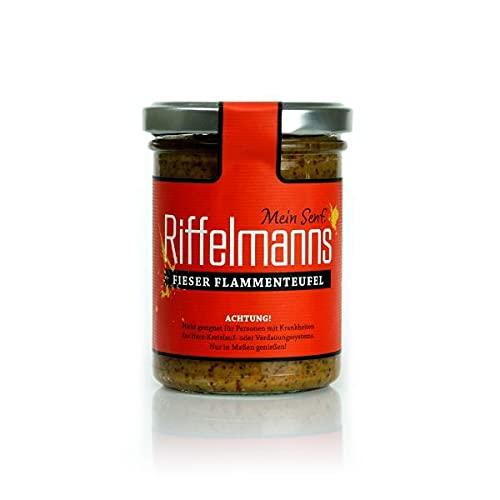 Riffelmanns - Senf - Fieser Flammenteufel - EXTRA scharf - 174g