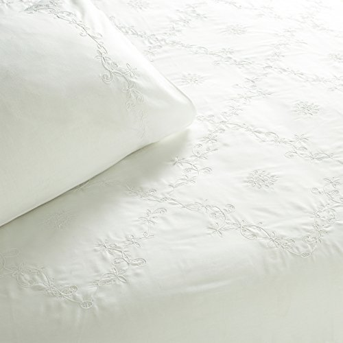 Riva Classics Amelia White Cotton Super King Duvet Cover Set