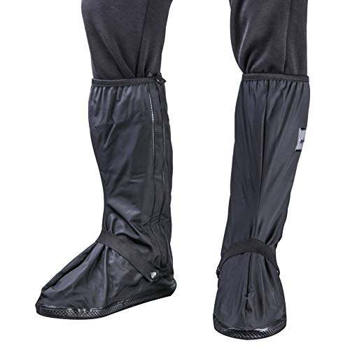 BS Waterproof Rain Boots Cover Overshoes Slip-Resistant Both for Men and Women (12.6 Inch)