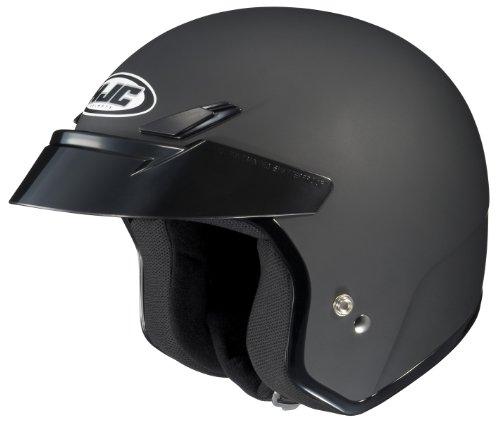 HJC CS-5 Open-Face Motorcycle Helmet (Flat Black, Large)